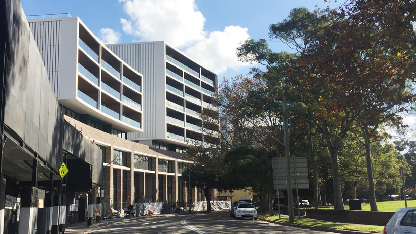 Scaffolding Comes Down on Glebe Apartments Stage 1